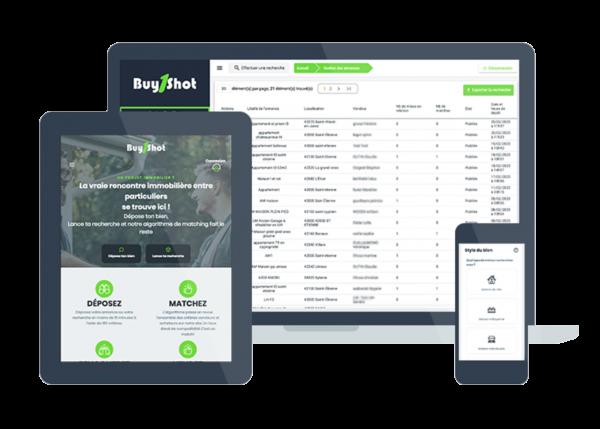 Buy 1 Shot est un client bénéficiant de l'outil CMS sur son site web