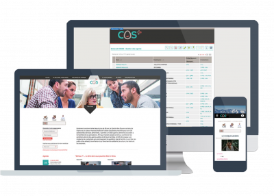 Cos38 est un client bénéficiant de l'outil CMS sur son site web