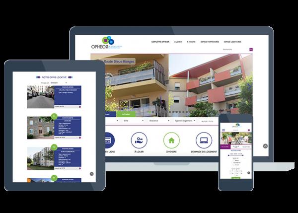 Opheor est un client bénéficiant de l'outil CMS sur son site web