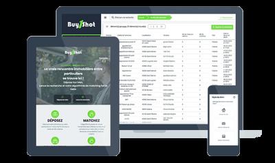 Construction du site internet métier de Buy1Shot