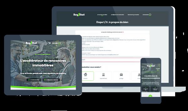 Evolution du site internet responsive de Buy1shot