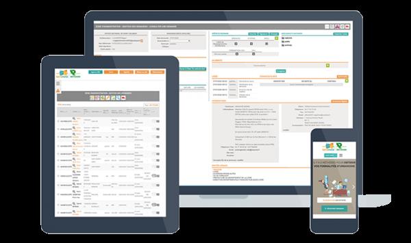 Création de l'application web pour tablette et mobile